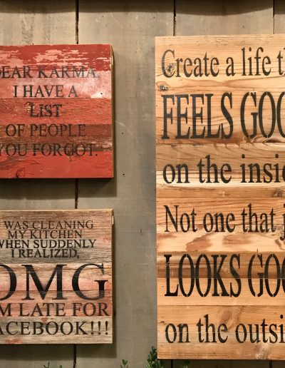 Wooden Wall Signs