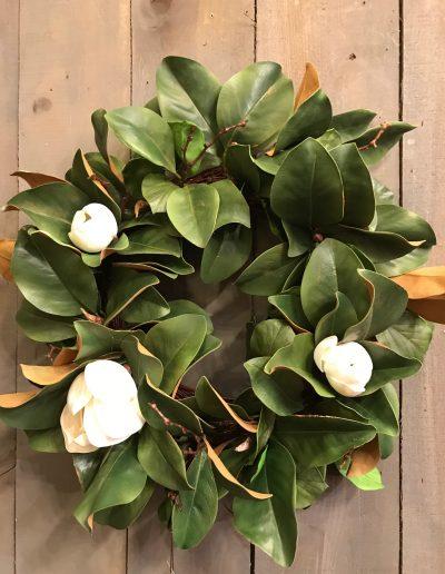 Realistic Magnolia Wreath