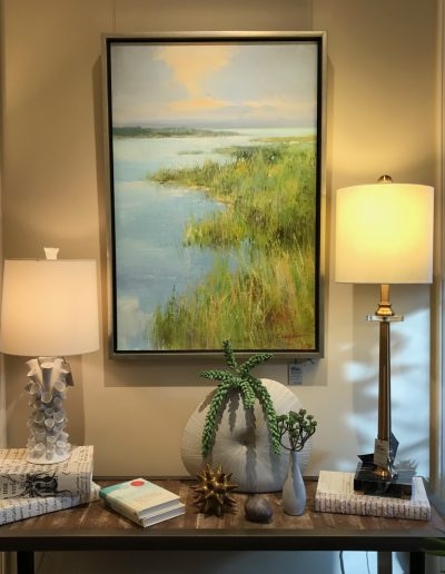 Oil Painting & Lamps