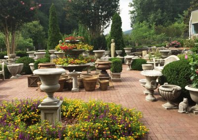 Front Coutryard with Cast Stone Garden Accessories