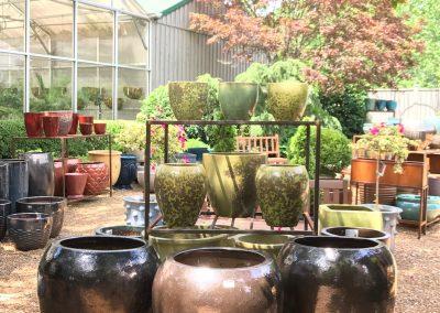 Side Courtyard with Glazed Pottery