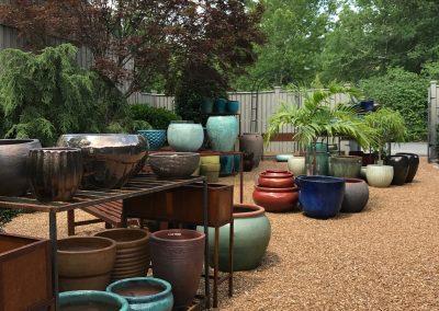 Courtyard with Glazed Pottery