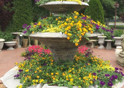 Fountain Planter with Summer Color