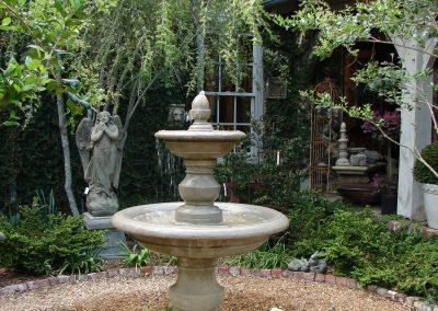 San Pietro fountain in courtyard