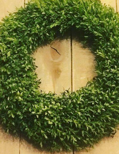 Faux Boxwood Wreath